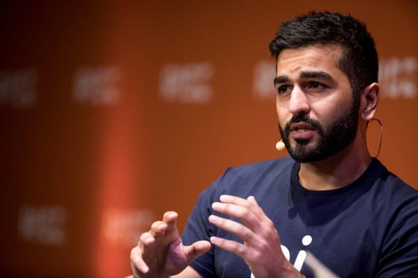 Kavin Bharti Mittal, chief executive officer of Hike, speaks during the Rise conference in Hong Kong, China.