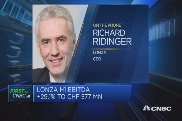 Lonza CEO: We have enough in pipeline to sustain growth