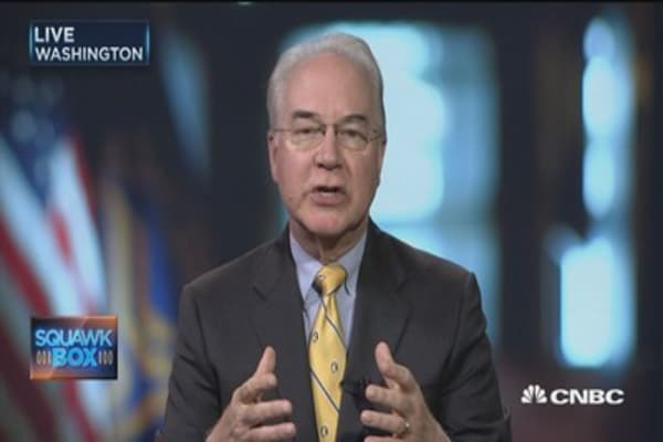 Sec. Tom Price: CBO score 'significantly flawed'