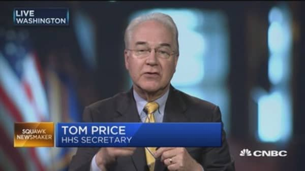 HHS Secretary Price: Health-care reform