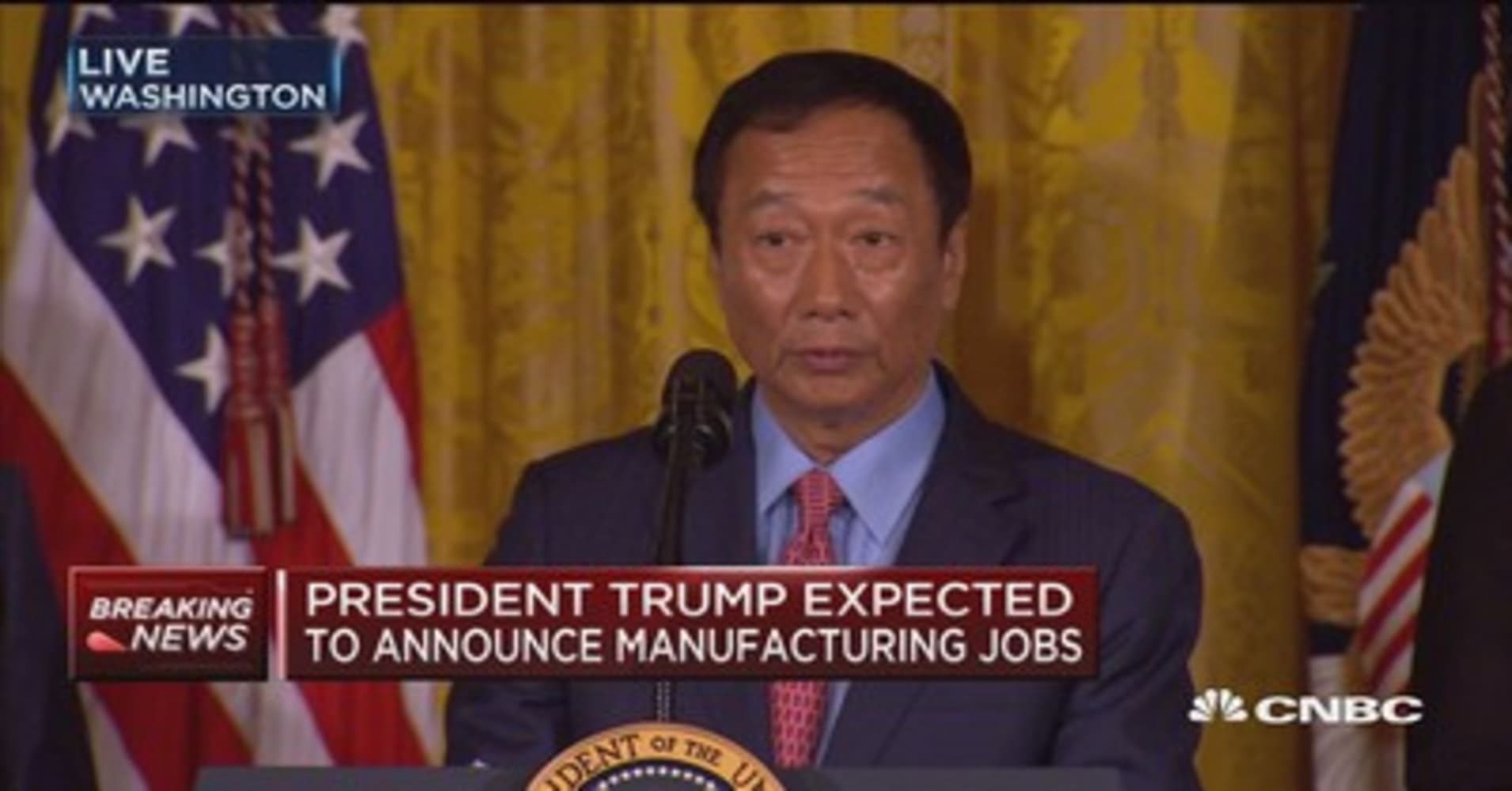 Image result for trump foxconn