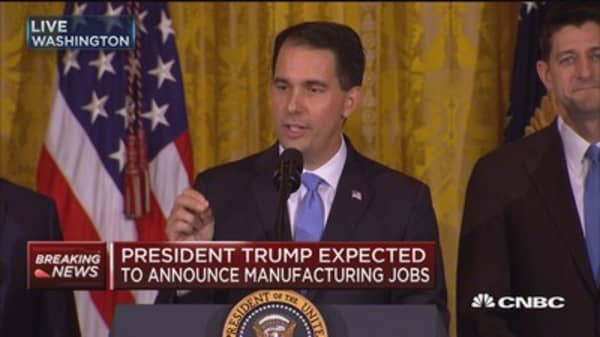 Wisconsin governor on Foxconn facility in home state