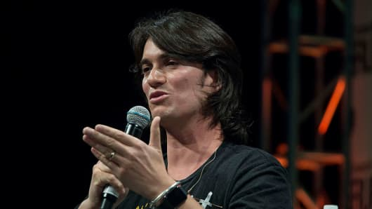 Adam Neumann, co-founder and chief executive officer of WeWork.