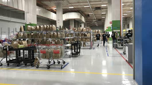An Amazon facility in Singapore