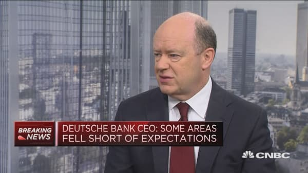 Deutsche Bank CEO: Earnings results 'a bit mixed'