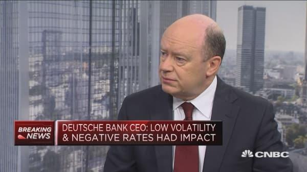 Deutsche Bank CEO: Macro-economic picture 'actually quite positive'