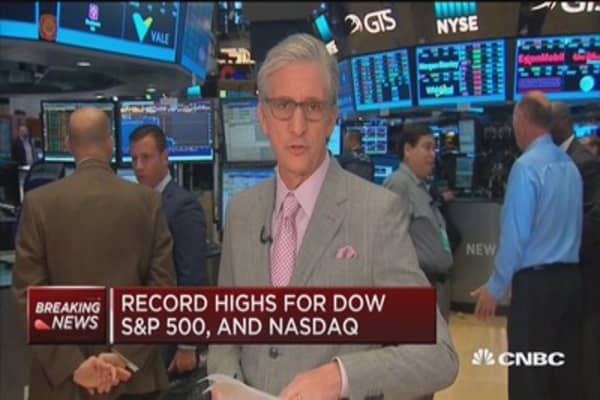 Record highs for Dow, S&P 500, and Nasdaq at open