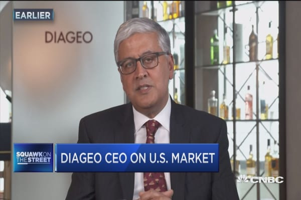 Diageo CEO: People are drinking better in America