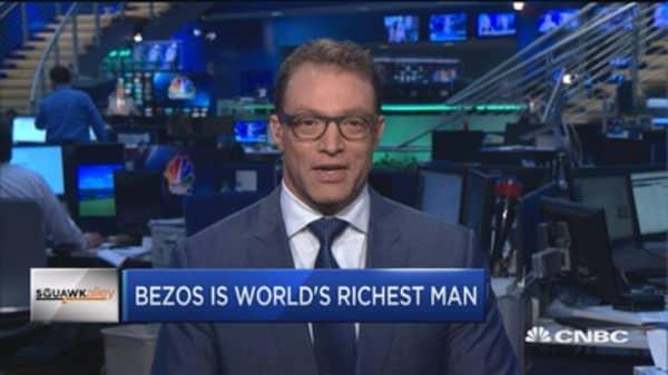 Jeff Bezos tops world's richest list with net worth over $90 billion