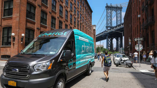 Ford-owned Chariot shuttles are coming to New York.
