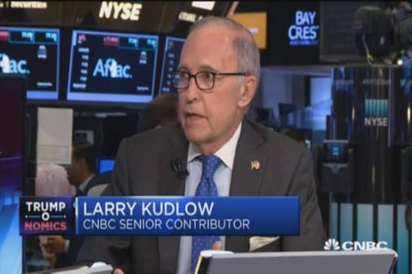 Border adjustment tax was holding things up: Kudlow