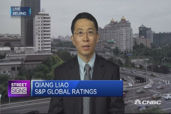 S&P still has a negative economic risk trend on Chinese banks