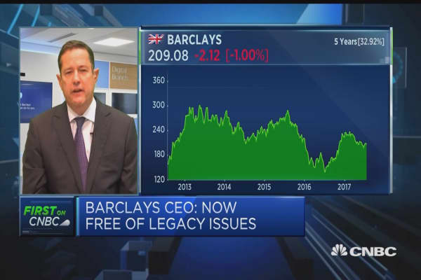 Barclays CEO: Earnings 'closes the restructuring of Barclays'