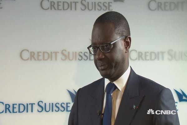 Credit Suisse 'well ahead of target we gave to the market': CEO