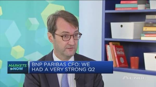 BNP Paribas CFO: We had a very strong Q2