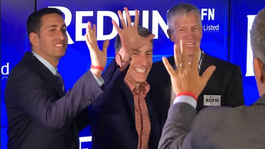 Redfin IPO at the Nasdaq market site in New York, July 28, 2017.