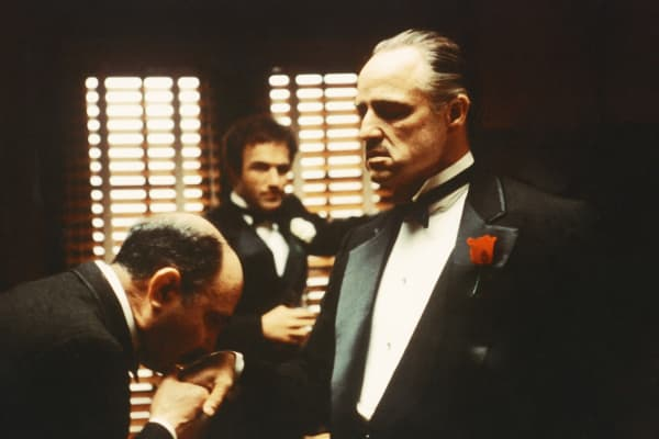Marlon Brando as Don Vito Corleone in 'The Godfather', 1972.