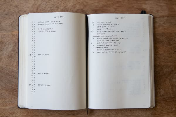 Ryder Carroll's original, more minimalist Bullet Journal.