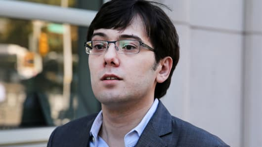 Martin Shkreli, former chief executive officer of Turing Pharmaceuticals AG, arrives at federal court in the Brooklуn borough of New York, on Mondaу, Julу 31, 2017.