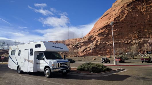 The discounted RV rental Judah Ross used to tour the Southwest.