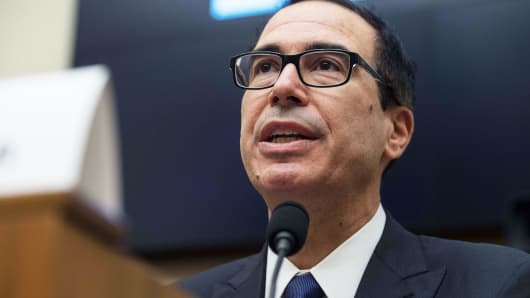 US Treasury Secretary Steve Mnuchin