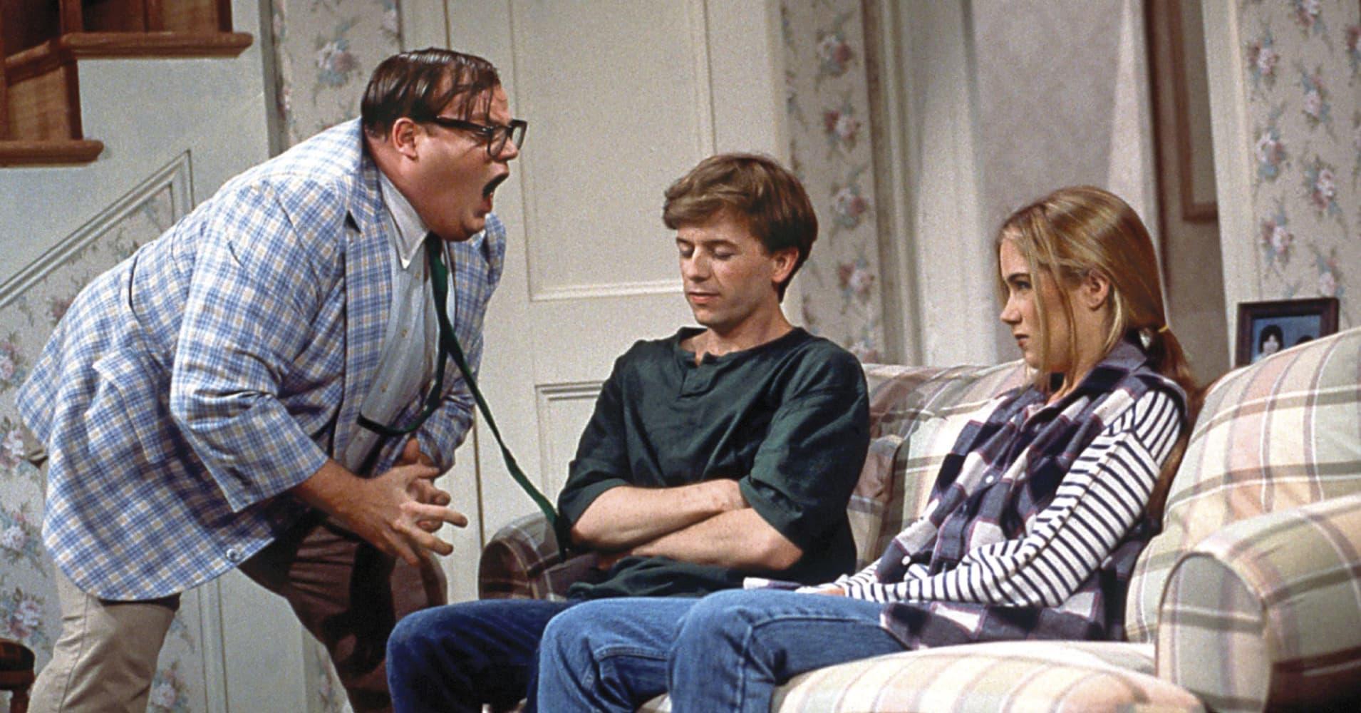 Chris Farley as motivational speaker Matt Foley on NBC's SNL