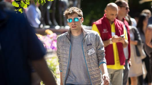 Sam Altman, chief executive officer of Y Combinator, attends the second day of the annual Allen & Company Sun Valley Conference, July 12, 2017 in Sun Valley, Idaho.
