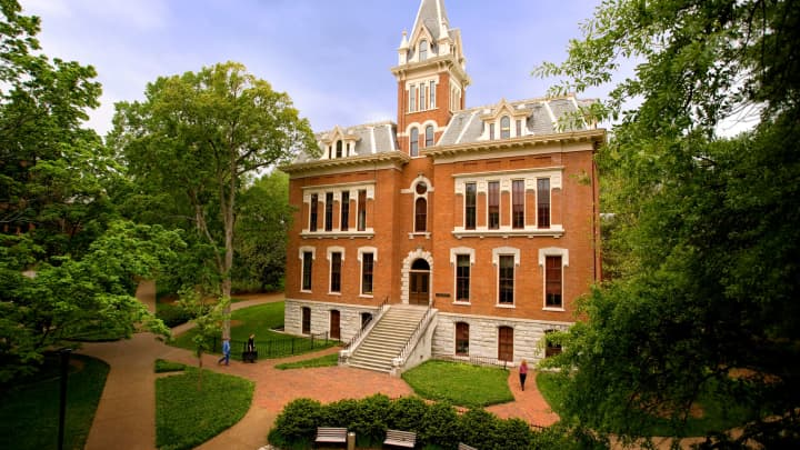 General view of the Benson Science Hall on the campus of the Vanderbilt Commodores in Nashville, Tennessee.