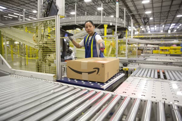 1.25 million square foot Amazon shipping center in Schertz, Texas.