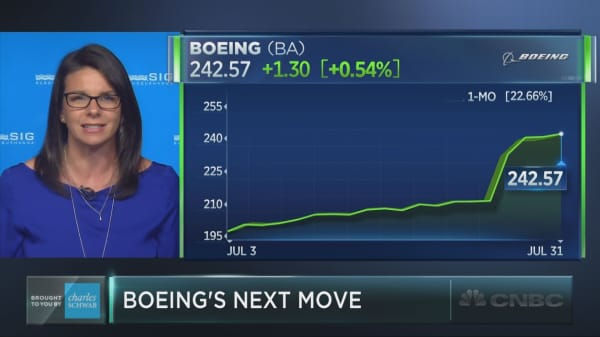 Shares of Boeing just posted its best month in 35 years