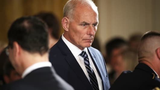 White House Chief of Staff Gen. John Kelly, July 31, 2017.