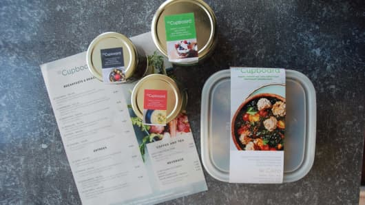 Le Cupboard's plant based entrees, customized to consumer's needs and diets