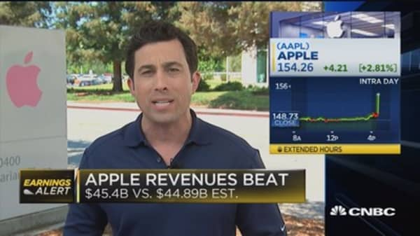 Apple beats on top line