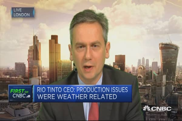 Confident about Chinese situation: Rio Tinto