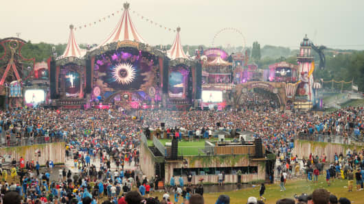 Tomorrowland in Boom, Belgium is one of the biggest electronic dance music festivals in the world.