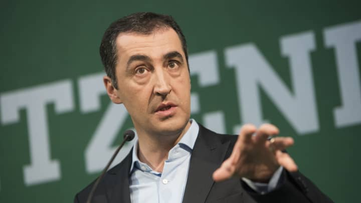 German Green Party's Cem Oezdemir talks to the media on January 18, 2017 in Berlin, Germany.