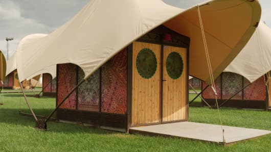 Private cabanas at Tomorrowland are one way to enjoy the festival in luxury.