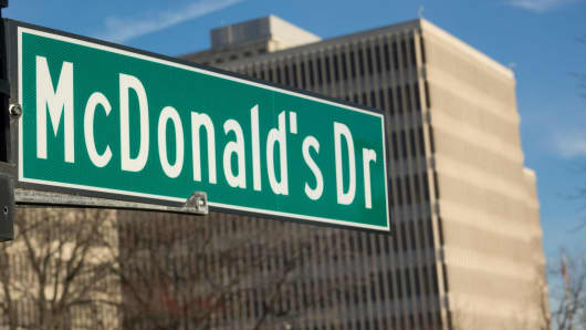 The U.S. headquarters of McDonald's, on McDonald's Drive in Oak Brook, Illinois,