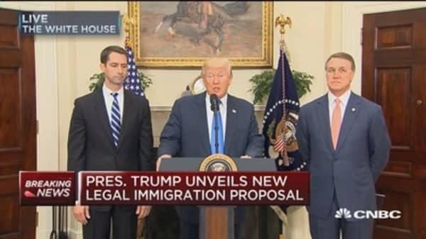 President Trump unveils new legal immigration proposal