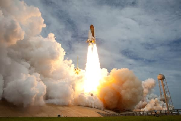 Space shuttle Atlantis launches on July 8, 2011, at NASA's Kennedy Space Center in Cape Canaveral, Fl.