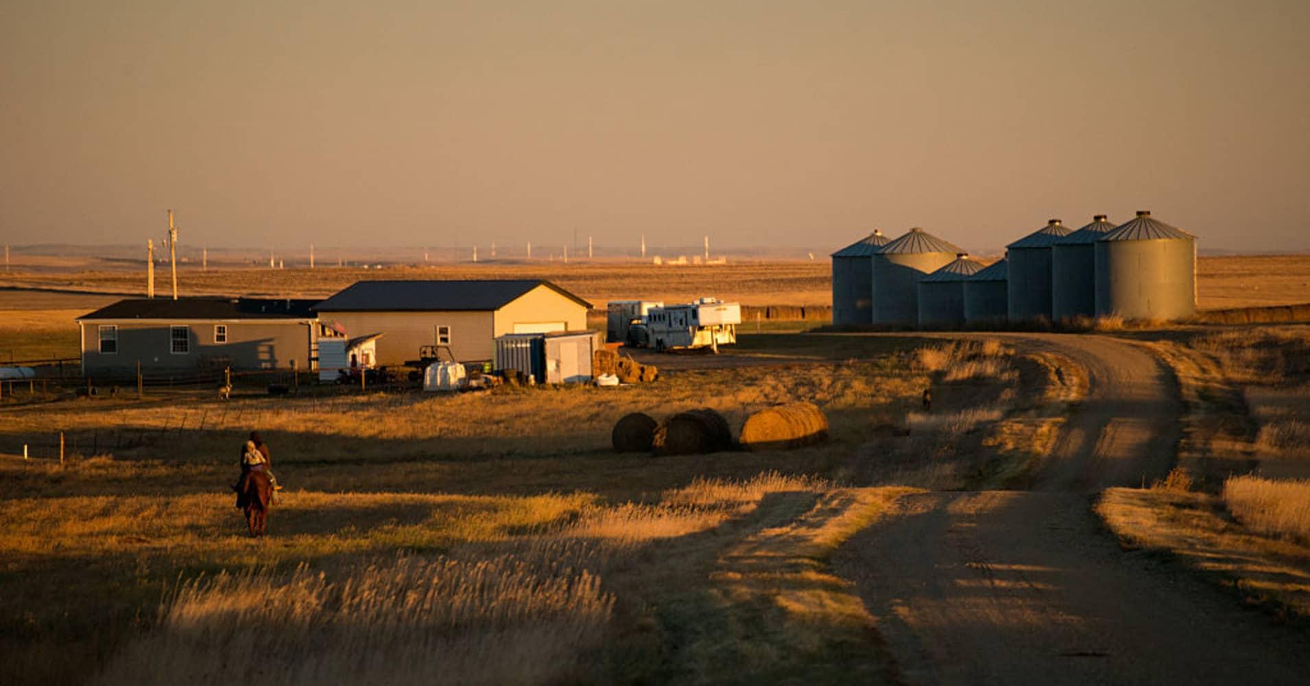 The plains of North Dakota.