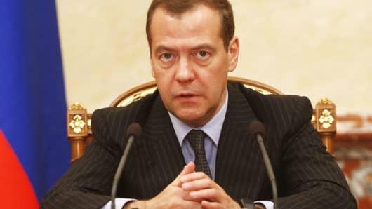 Russian Prime Minister Dmitry Medvedev.