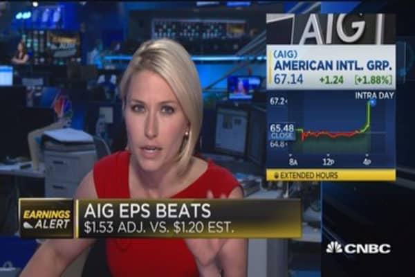 AIG beats the Street