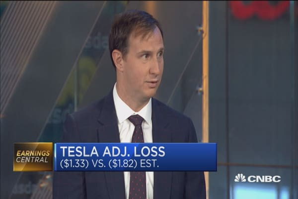 As long as Tesla continues to make progress the stock will move higher: Oppenheimer's Colin Rusch