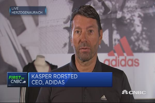 Adidas CEO: 'Absolute stellar' second quarter