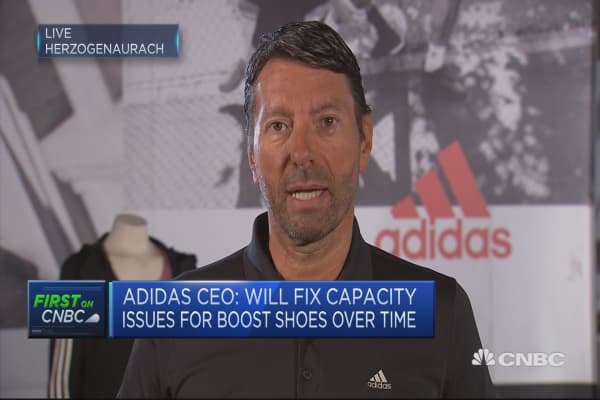 Adidas CEO on performance of digital sales