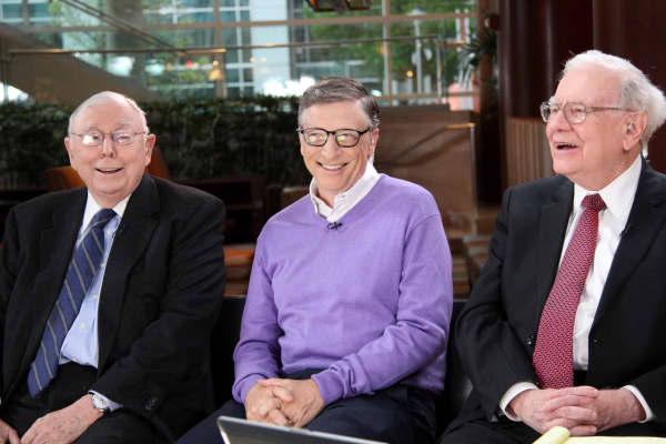 Charlie Munger, Bill Gates, and Warren Buffett