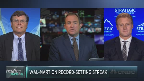 Shares of Wal-Mart just did something they haven't done since 1995