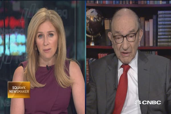 Greenspan: Perfectly fair to say there's 'irrational exuberance' in bond market