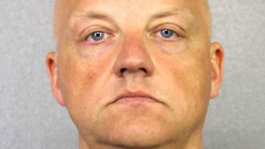 In this handout provided by the Broward Sheriff's Office, suspect Oliver Schmidt, an executive for Volkswagen poses in this undated booking photo.